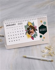 Personalised Tropical Photo Desk Calendar