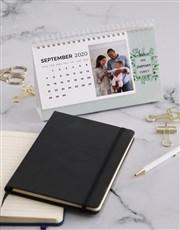 Personalised Lovely Leaves Desk Calendar