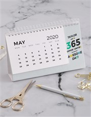 Personalised 365 Awesome Days Desk Calendar