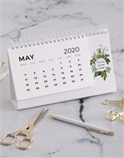 Personalised Botanical Desk Calendar