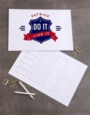 Personalised Badge Desk Pad