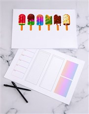 Personalised Fun Ice Cream Desk Pad