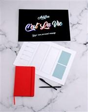 Personalised Cest La Vie Desk Pad
