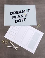 Personalised Plan It Desk Pad