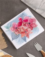 Personalised Floral Name Cheese Knives