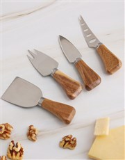 Personalised Couples Geode Cheese Knives