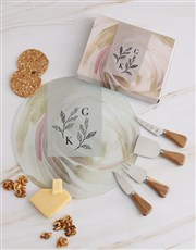 Personalised Leaves Cheese Knives