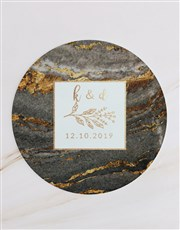 Personalised Gold Geode Cheese Knives
