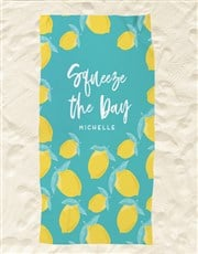 Personalised Squeeze The Day Beach Towel