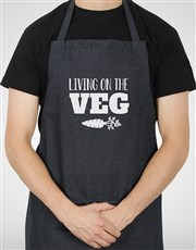 Personalised Living On The Veg Apron
