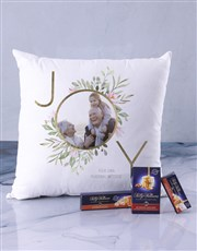 Personalised Joy Photo Scatter Cushion