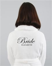 Personalised Bride Slipper and Gown Set