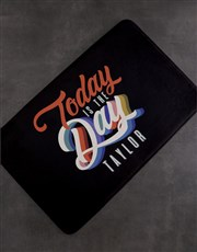 Personalised Today Is The Day Bath Mat