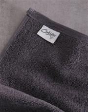 Personalised Afro Geometric Charcoal Towel Set