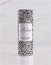 Personalised Colourful Leopard Print Wine Tube