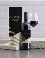 Personalised Sophisticated Wine And Tube Gift