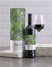 Personalised Tropical Wine And Tube Gift
