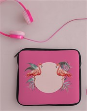Personalised Flamingo Tablet Cover