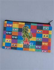 Personalised Trex Pencil Bag