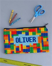 Personalised Building Block Pencil Bag