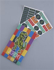 Personalised T Rex Labels
