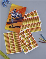 Personalised Motocross Labels