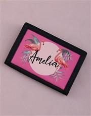Personalised Flamingo Wallet