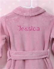 Personalised Glitter Pink Fleece Gown