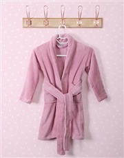 Personalised Glitter Stars Pink Fleece Gown