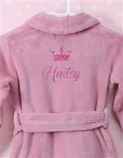 Personalised Glitter Princess Pink Fleece Gown