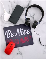 Personalised Be Nice Desk Tech Set
