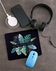 Personalised Leaves Desk Tech Set
