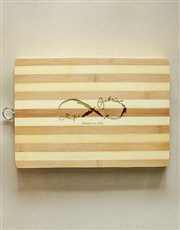 Personalised Infinity Wooden Chopping Board