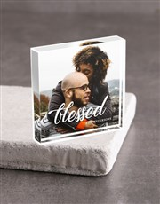 Personalised Blessed Acrylic Block