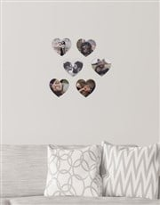 Personalised Heart Multi Photo Blocks