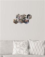 Personalised Hexagon Multi Photo Blocks