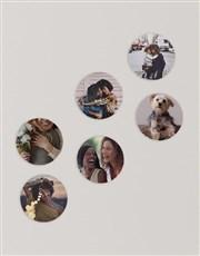 Personalised Circle Multi Photo Blocks
