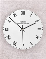 Personalised Roman Numerals Perspex Clock