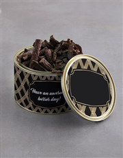 Personalised Awesome Bosses Day Biltong Tin