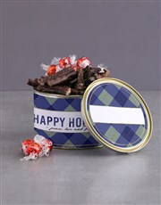 Personalised Happy Holidays Bilton Tin