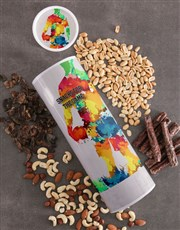 Personalised Snacks Biltong and Nuts Tube