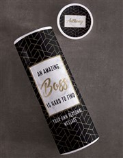 Personalised Amazing Boss Biltong Tube