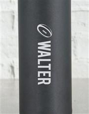 Personalised Rugby Star Black Waterbottle