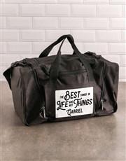 Personalised The Best Things Gym Bag