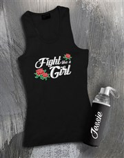 Personalised Girl Waterbottle And Racerback