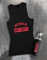 Personalised Mermaid Waterbottle And Racerback