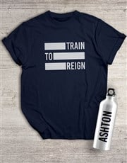 Personalised Reign Waterbottle And T Shirt