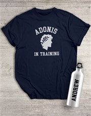 Personalised Adonis Waterbottle And T Shirt
