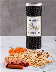 Personalised Great Boss Fruit and Nut Tube