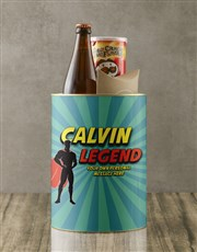 Personalised Superhero Legend Bro Bucket